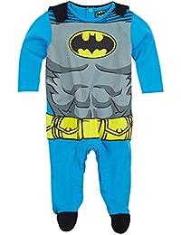 Batman - Pijama con capa para bebé, diseño de Batman (de 3 a 24 meses), color azul y gris