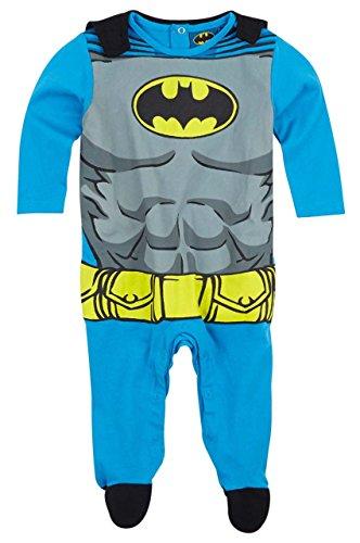 Pijama con capa bebé disfraz Batman azul/gris de 3a 24Meses azul azul Talla:18 meses