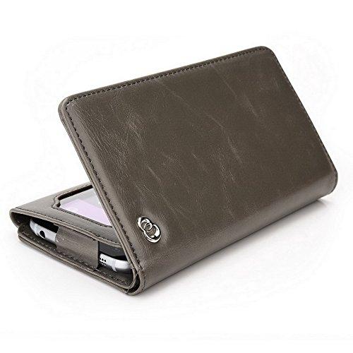Kroo unisexe Bifold Wallet ZTE Blade Vec 3G Universal Fit différentes couleurs disponibles avec écran de visualisation beige beige gris