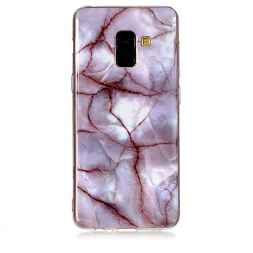 Neo Silikon Hülle [Scratch-Resistant],Kreativ Niedliche Marble Silikon Hülle/Schutzhülle / Cover Soft Ultra Dünn Crystal Clear Transparent Kirstall Gel TPU Protective back für Samsung A6 2018