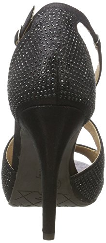 XTI Damen Black Metallic Textile Ladies Shoes Pumps Schwarz (Black) YJpuiaym