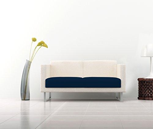 Italian Bed Linen Più Bello Set de Protectores de Asiento para Sofá, Poliéster, Azul Oscuro, 23x32x6 cm, 2 Unidades