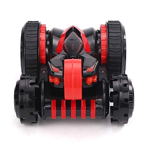 MEILA Kinder drahtlose Fernbedienung Auto SUV Verformung Stunt Auto Elektro-Allradantrieb Racing Tumbling Dump Truck Toy Boy (Color : Red) (Dump Truck Red)