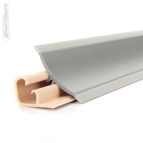 150cm Küchenabschlussleiste Küchenleiste Wandabschlussleiste -- 23 x 23mm LB23-611 ALUMINIUM SATIN -- Abschlussleiste DPD Küchen Arbeitsplatten