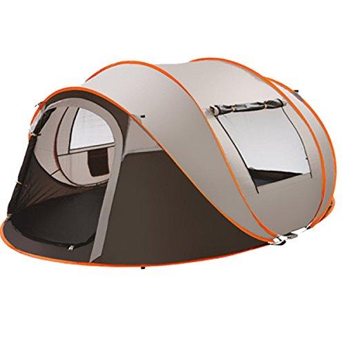 KUWOMINI.Camping Zelt Im Freien Trave Backpacking Familie Kuppelzelt,Grey-AllCode