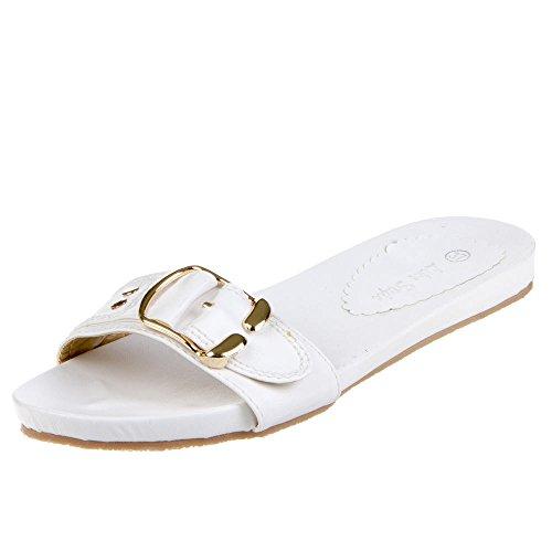 Sapatas Sandálias Brancas Das Senhoras 2522 qfw8qY