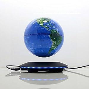 Levitación magnética Levitación magnética que rota el mapa del mundo iluminado luz LED antigravedad globo para niños decoración del escritorio de oficina en casa de educación