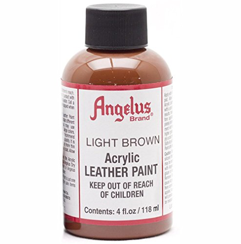 Angelus Acryl Leder Farbe 118ml / 4oz (Hellbraun / Light Brown) (Acryl-leder-farbe Brown)