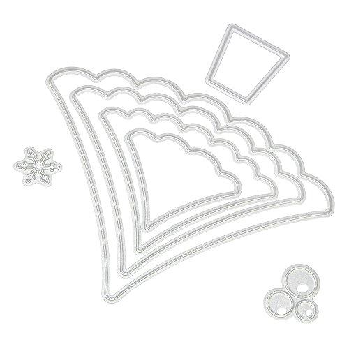 Figura de Nieve de Troqueles para Álbumes de recortes,DIPOLA Dies Cortar DIY Scrapbooking Plantillas Estarcir Gofrado Troquelado Kit en Relieve Grabado &010