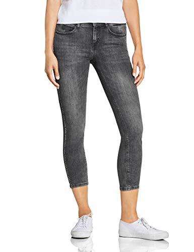 Street One Damen 372416 York Fit Slim Jeans, Authentic Black Denim wash, W29/L28 (Herstellergröße:29) -