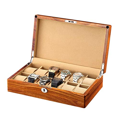 wellery Display Case Mens Watch Display Box, Accessories-Gift for Man, Women, Husband,C-12watchs ()