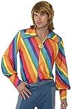 1970er Regenbogenfarbenes Hemd, Large