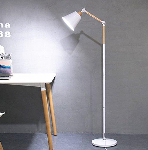 Lampadaire Moderne Minimaliste LED Oeil Lampe De Pêche Creative Nordique Salon Chambre Étude Vertical Lampe De Table 160 Cm / 63 Pouces (Color : White)