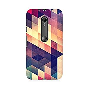 RAYITE Geometric Abstract Art Premium Printed Mobile Back Case Cover For Moto X Play