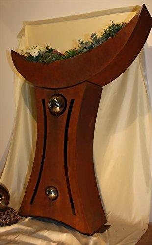 Jabo Design Säule XXXL Rostsäule RS113, Deko Rost Säulen Blumen Garten