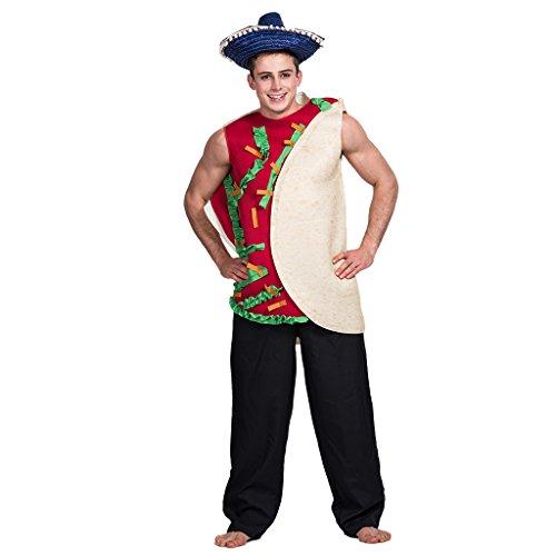 EraSpooky Herren lustige Deluxe Mexican Taco Essen Kostüm Halloween Verkleidung