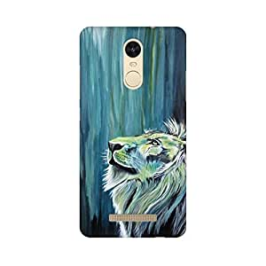 Mobicture Mighty Lion Premium Printed High Quality Polycarbonate Hard Back Case Cover for Xiaomi Redmi Note 3 With Edge to Edge Printing