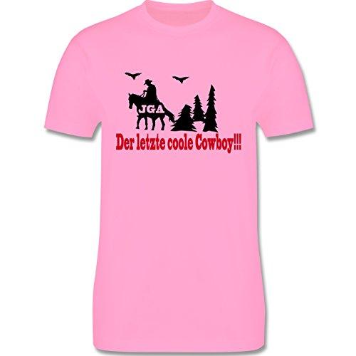 JGA Junggesellenabschied - Der letzte coole Cowboy - Herren Premium T-Shirt Rosa