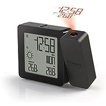 Oregon Chai - Reloj digital (con proyector, temperatura interior/exterior y pronóstico del tiempo)