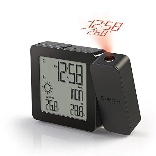 Oregon Scientific BAR368P PROJI Funk-Projektionsuhr mit Wettervorhersage plus - Clock Atomic Radio Digitale