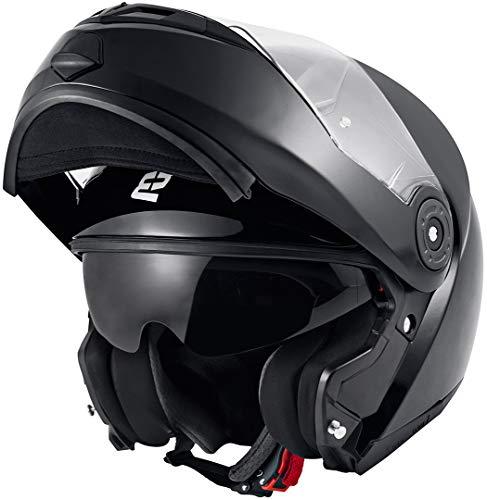 Bogotto FF370 Motorrad Klapphelm Schwarz XXL