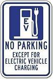 Aersing No Parking Außer für Elektro-Fahrzeug Ladekabel Sign Funny Yard Deko Schilder für Draußen Home Metall Aluminium Wand Sicherheit Schild 30,5x 45,7cm