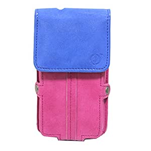 Jo Jo A6 Nillofer Series Leather Pouch Holster Case For Honor 6 Dark Blue Pink