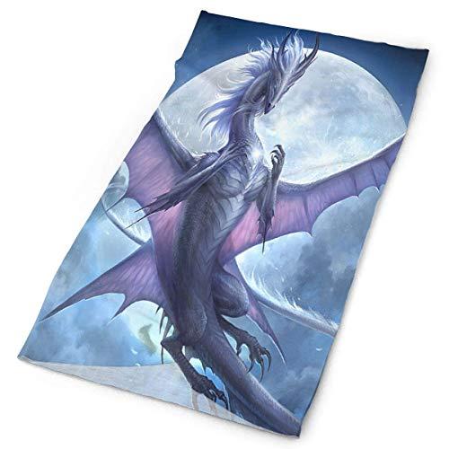 Unisex Kerchief Purple Moon Dragon Multifunctional Bandanas Sweatband Elastic Turban Headwear Headscarf -