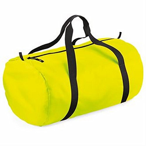 BagBase unisex-adult Packaway barrel bag, , Silver/ Black -