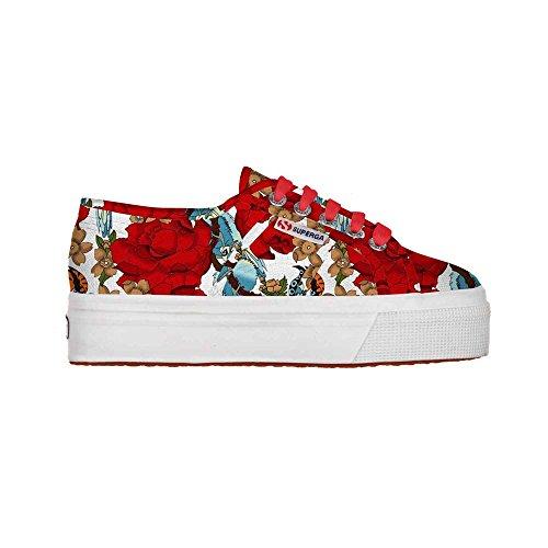Superga  2790-Fantasy Cotw, Damen Sneaker Eden Red