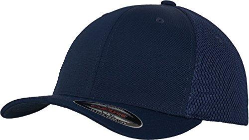 Navy Fitted Cap (Flexfit Erwachsene Mütze Tactel Mesh, Navy, L/XL)