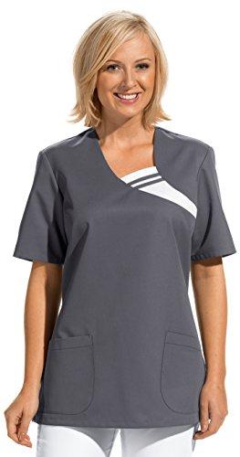 clinicfashion 12612037 Schlupfhemd grau für Damen, Mischgewebe, Größe L