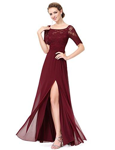 Ever Pretty Damen Cocktail Kleid burgunderfarben
