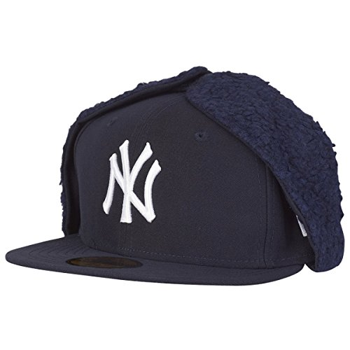 New Era 59Fifty Dog Ear Winter Cap - NY Yankees Navy - 7 (Ear Dog Cap)