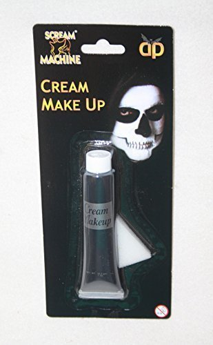 Halloween Black Paint Face Body Makeup In Tube Clown Vampire Ghost Fancy Dress by Scream Machine (Body-paint Black Halloween Für)