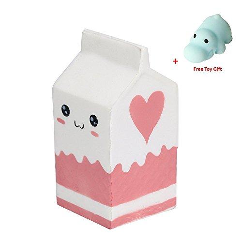 Funkun Milch Squishy Toys Stress Reliever für Kinder und Erwachsene Langsam aufsteigende Creme Scented Soft Toys (Milk)