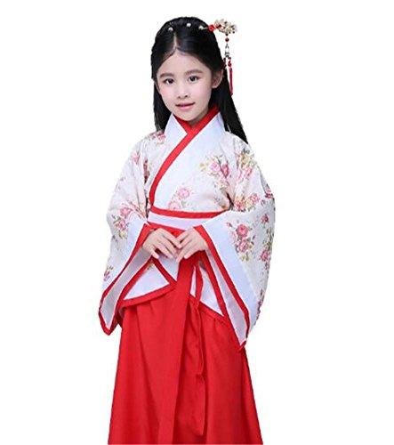 peiwen Disfraz de actuación escénica para niñas/Ropa para espectáculos de Danza/Hanfu Chino/Niños y Adultos