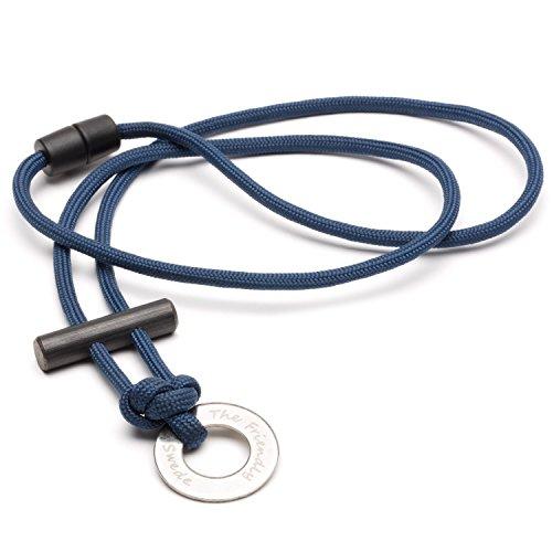 the-friendly-swede-collier-en-paracorde-avec-allume-feu-garantie-a-vie-bleu-fonce-unique