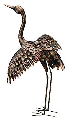 Bronze Grue 104cm Oiseaux en métal Statue/ornement Creekwood (Regal Art & Cadeau)