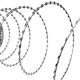 vidaXL Alambre concertina de acero galvanizado BTO-22 con longitud 150 m