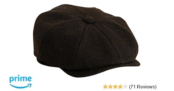 09f280b2a89cf Gamble   Gunn   Shelby   Black Herringbone Button Top Cap  Amazon.co.uk   Clothing
