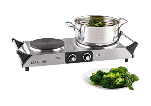 Klarstein Cookorama plaques de cuisson à induction (taille compacte, puissance 1500W et 1000W, chauffe rapide, temperature réglable 60 - 240°C, transportable)