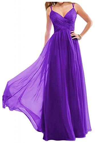 Toscane mariée simple chiffon rueckenfrei abendkleider promkleider forme de boule longueur :  party Violet - Violet