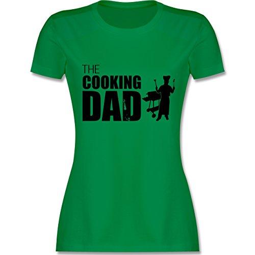 Grill - The cooking Dad - tailliertes Premium T-Shirt mit Rundhalsausschnitt für Damen Grün