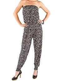 fe4426404e12 Unbekannt Stylischer Damen Bandeau Jumpsuit Overall Catsuit Einteiler S M