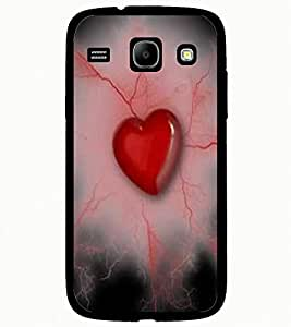 ColourCraft Heart and Beats Design Back Case Cover for SAMSUNG GALAXY CORE I8262 / I8260