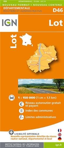 Lot Dep 46 2014 (Carte Départementale) por IGN