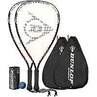 2 x Dunlop Nanomax Pro Racquetball Schläger + 3 Dunlop Bälle