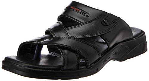 Redchief Men's Black Leather Sandals - 7 UK (RC0593 001)  available at amazon for Rs.998