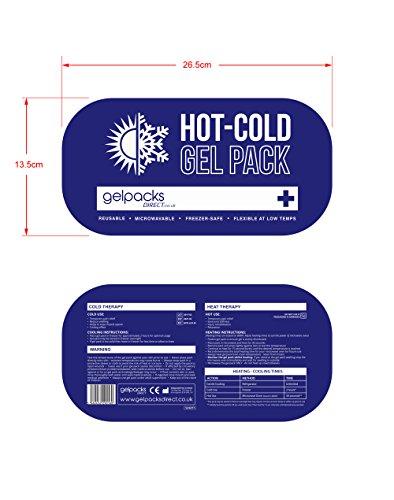 Gelpacksdirect   Bolsa de gel para aplicar frío y calor   Con banda de compresión   Para lesiones en la rodilla